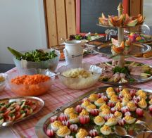 Brunch-Buffet Vorspeisen