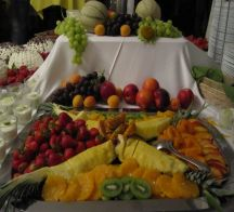 Dessert Obstplatte