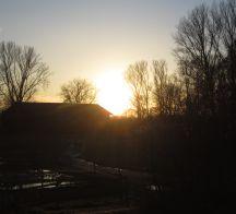 Sonnenuntergang Scheune 216x196
